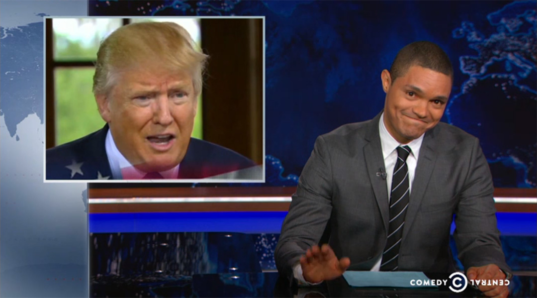 trevor noah daily show trump bush
