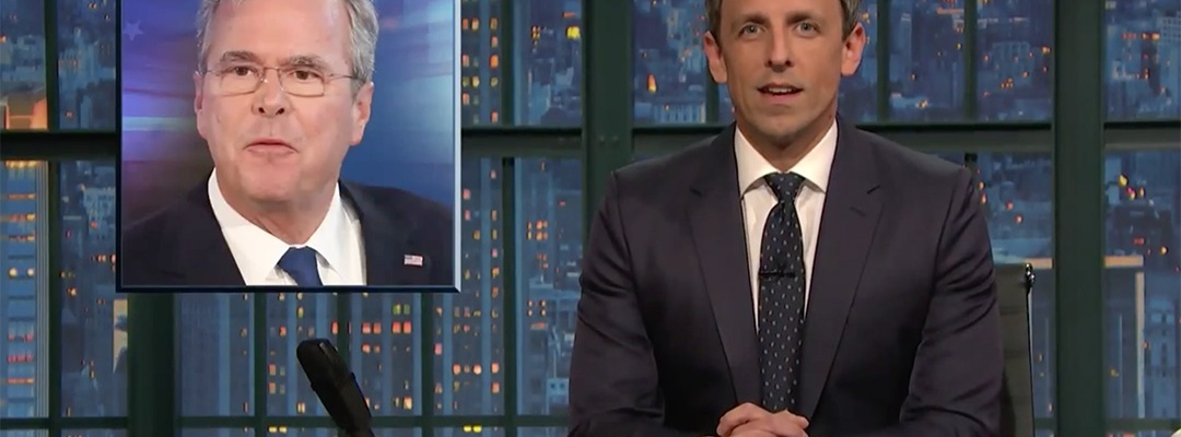late night seth meyers jeb bush