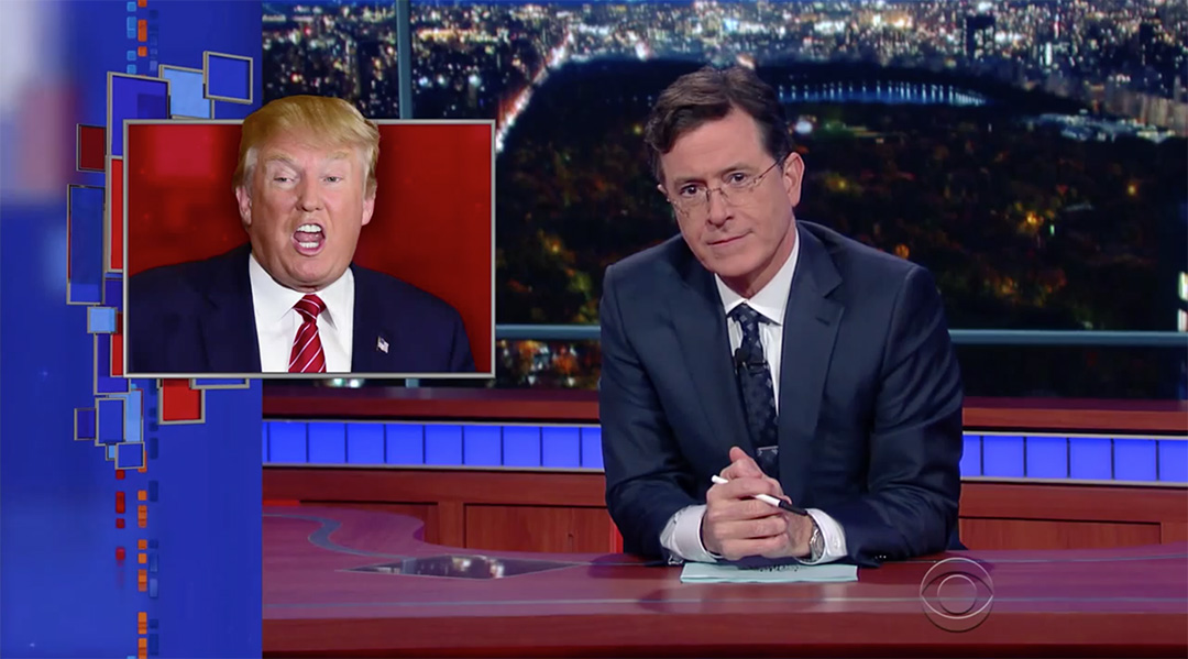 late show stephen colbert donald trump