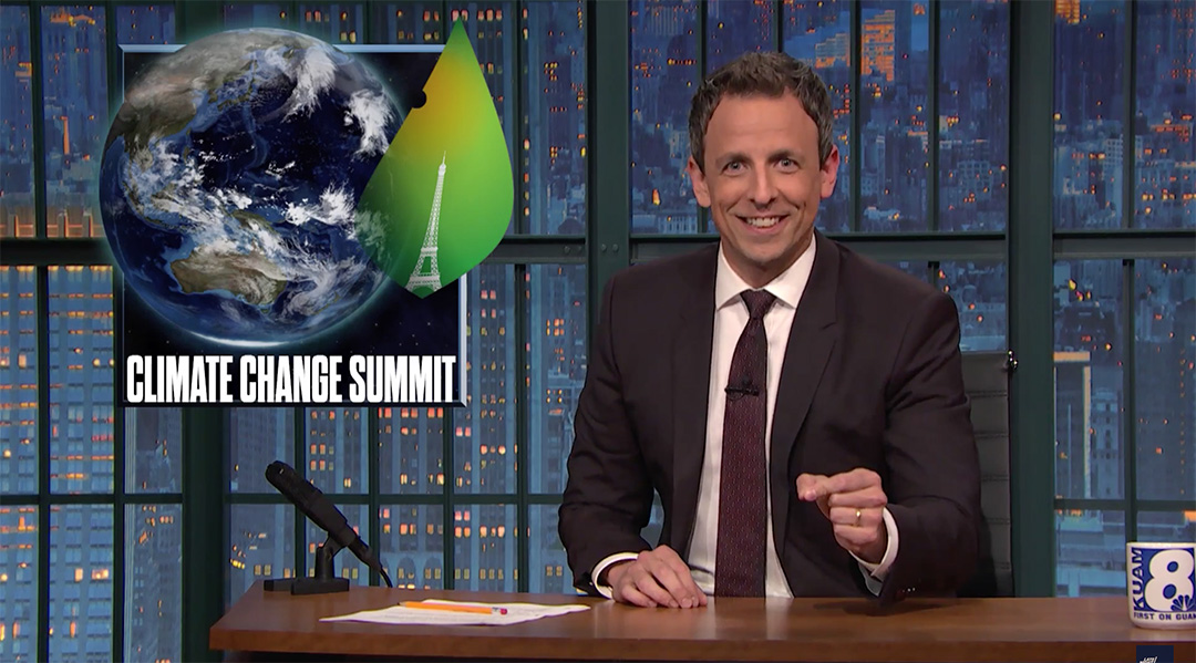 late night seth meyers climate change