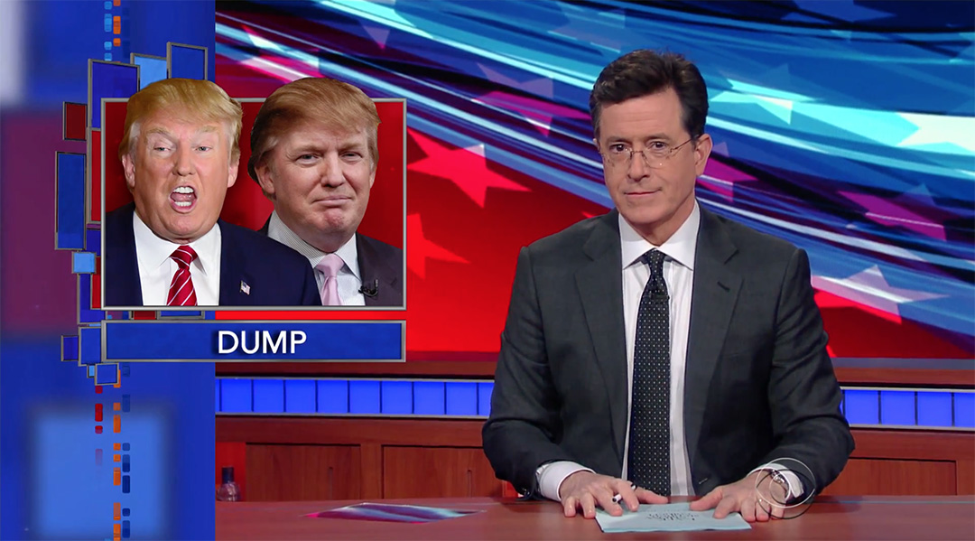 late show donald trump stephen colbert