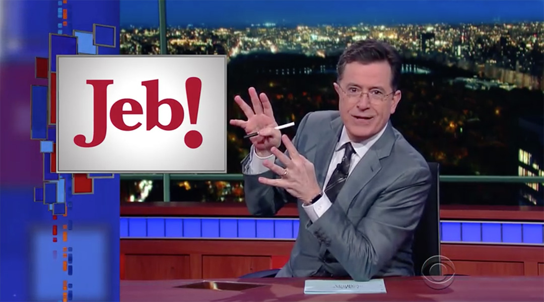 stephen colbert jeb! late show