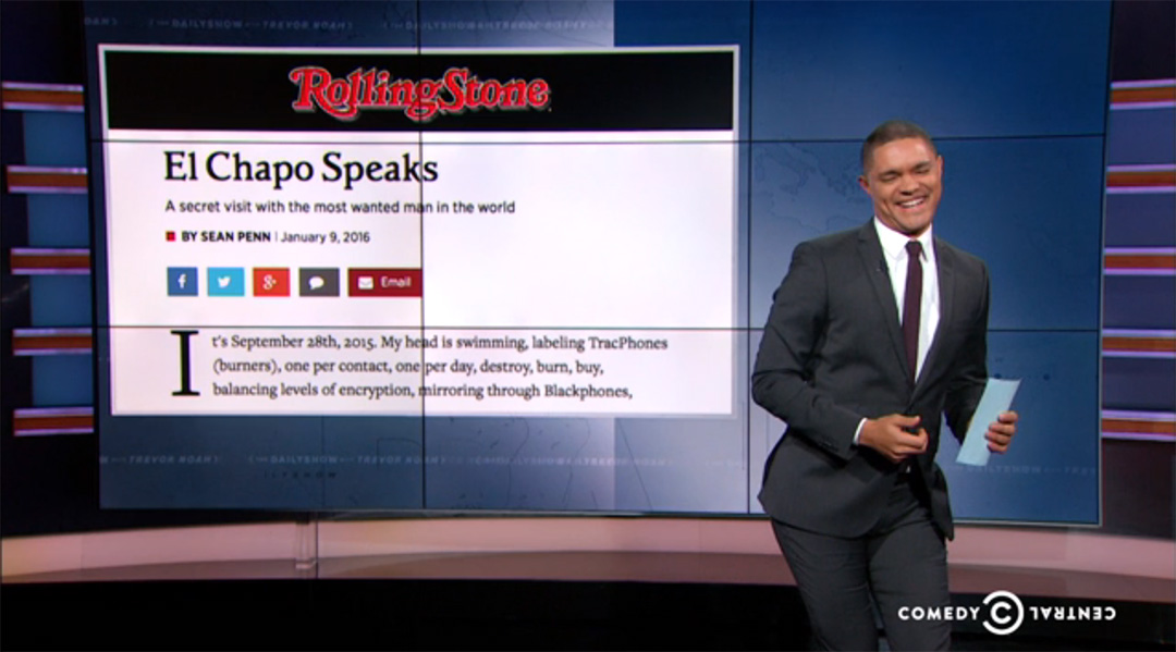 el chapo trevor noah daily show