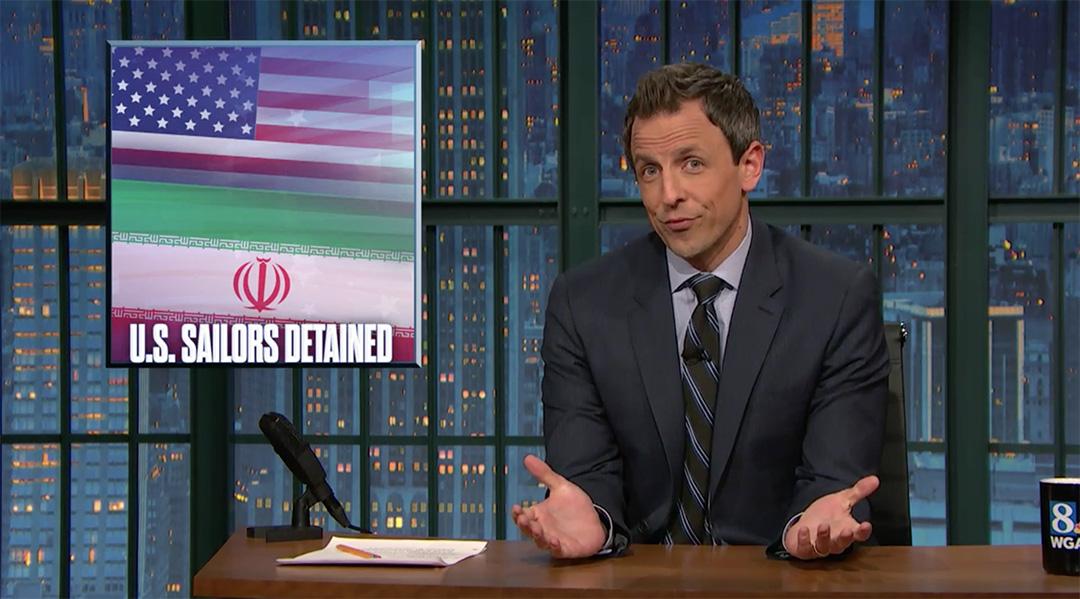 late night seth meyers Iran