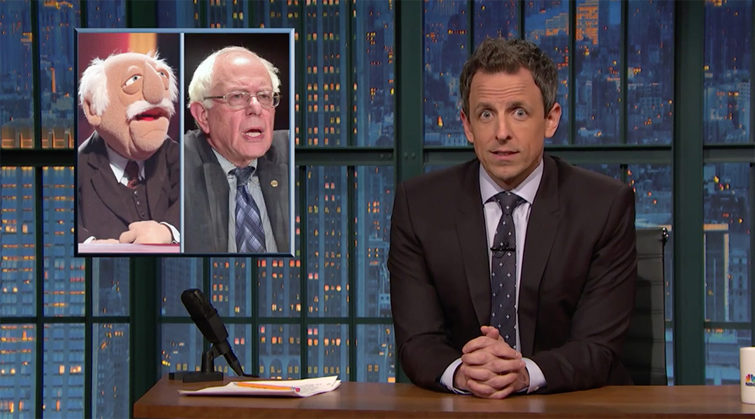 late night seth meyers bernie sanders
