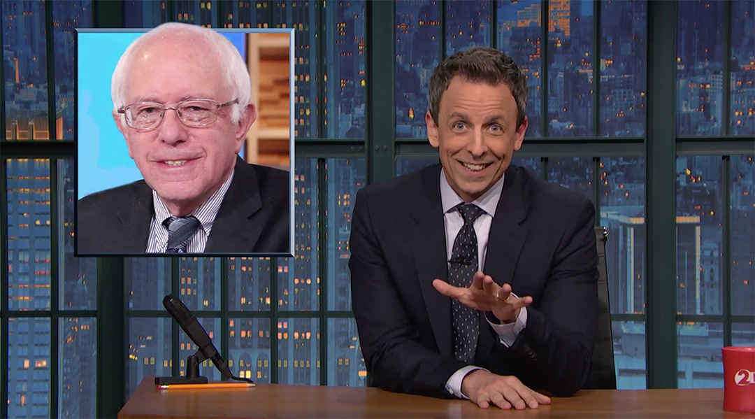 bernie sanders late night seth meyers