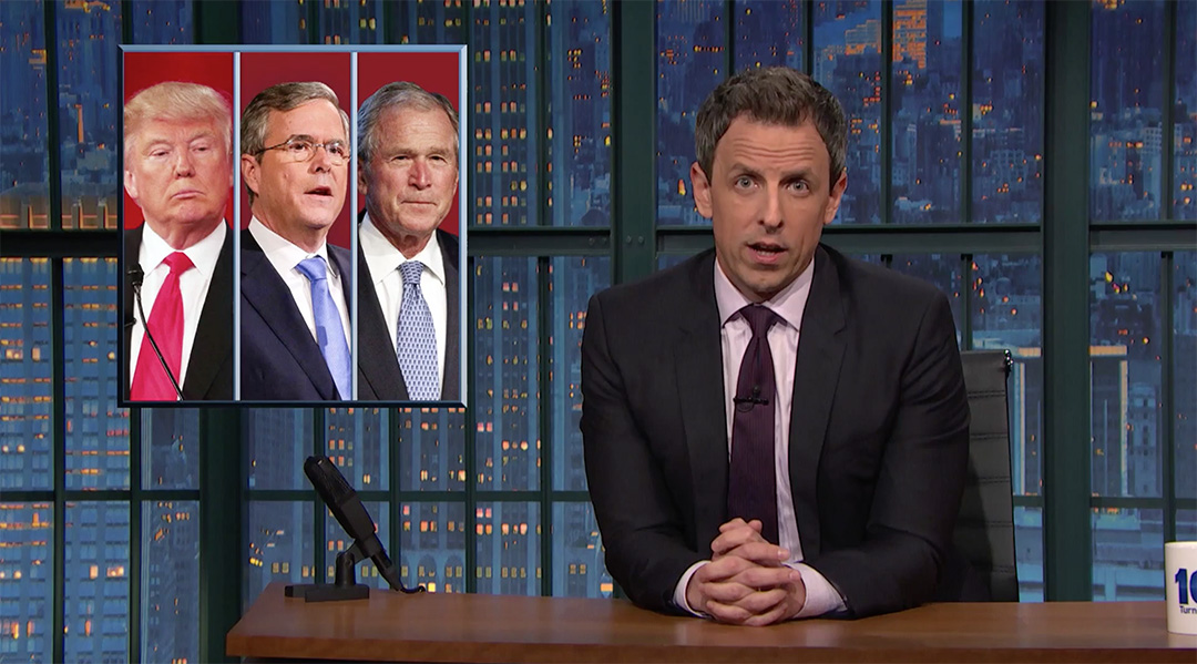 george w bush late night seth meyers donald trump