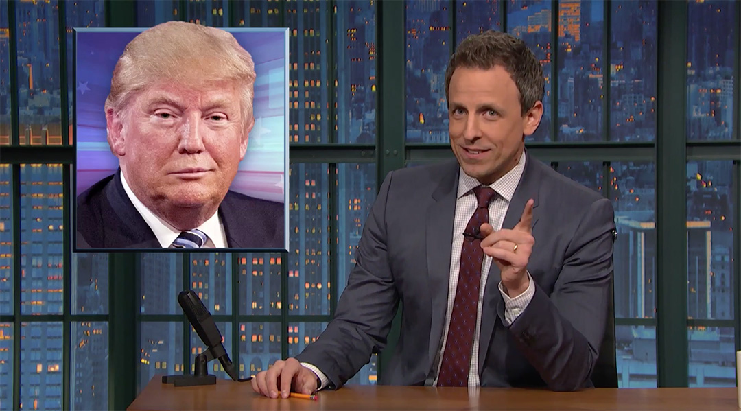 donald trump late night seth meyers