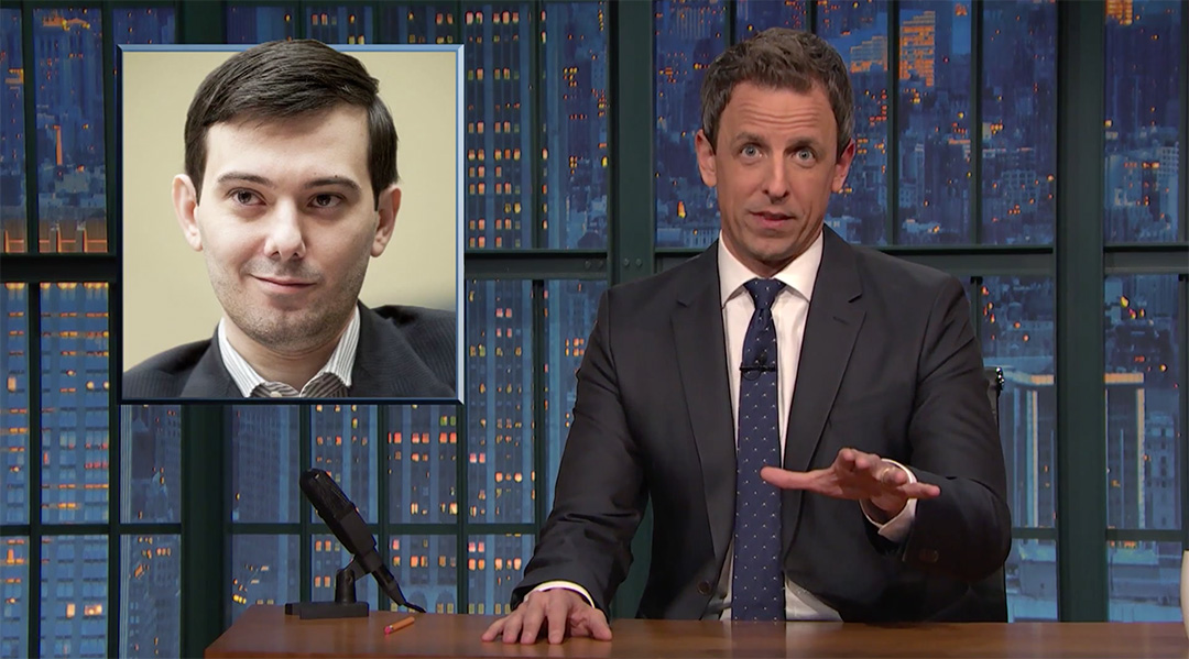 seth meyers late night martin shkreli pharma bro