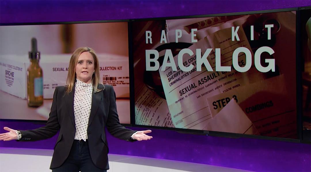 rape kits full frontal samantha bee