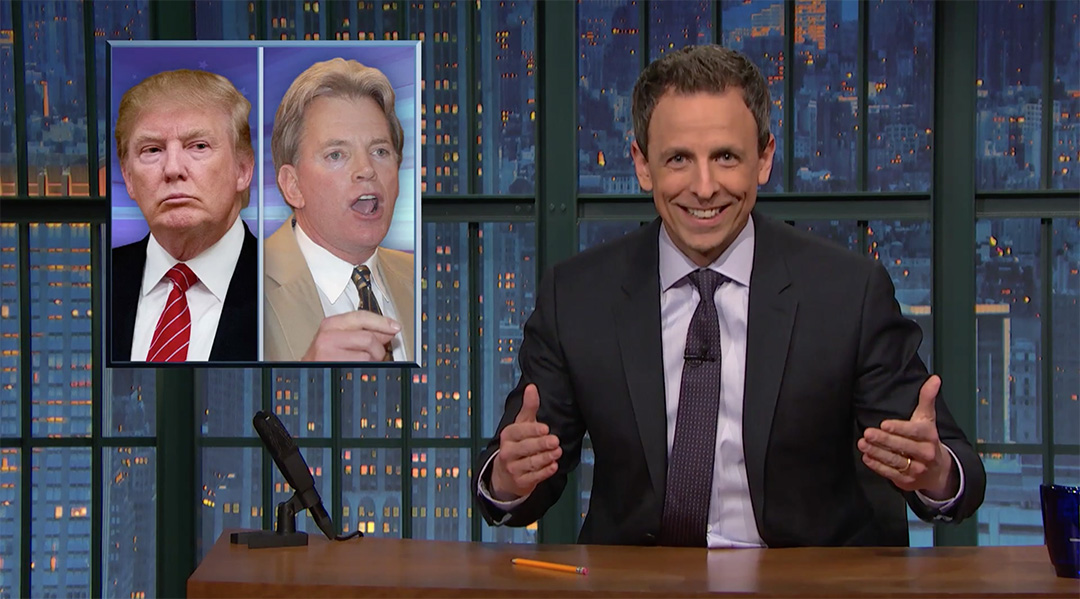 kkk seth meyers late night donald trump