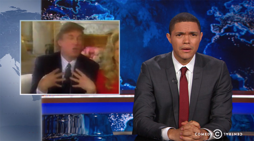 boobs trump trevor noah