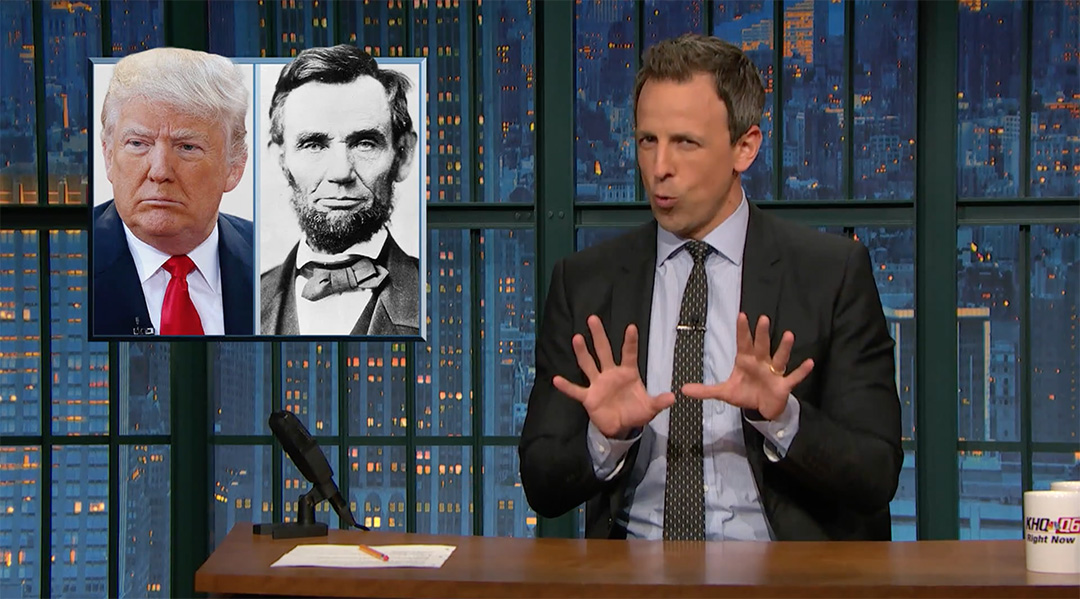 rhetoric trump seth meyers