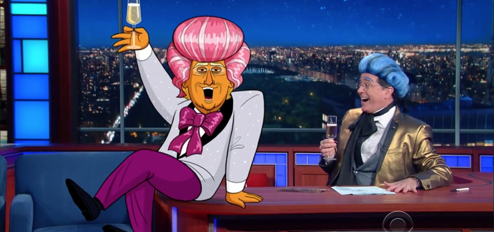hungry for power games trump colbert