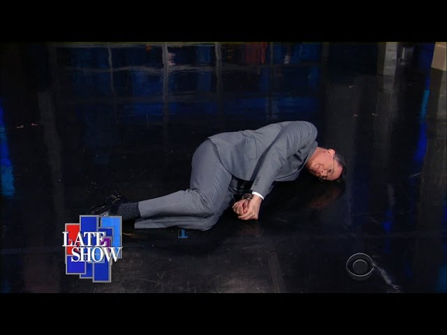 trump nomination colbert fetal position