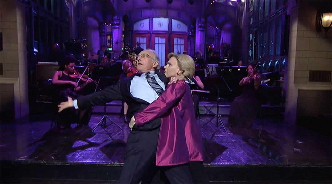 larry david bernie hillary snl