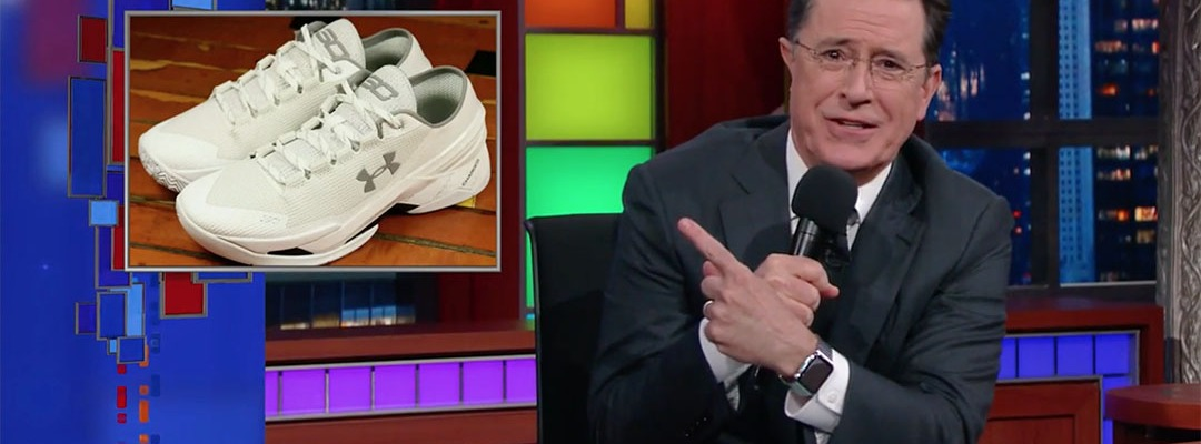 Steph Curry shoes stephen colbert