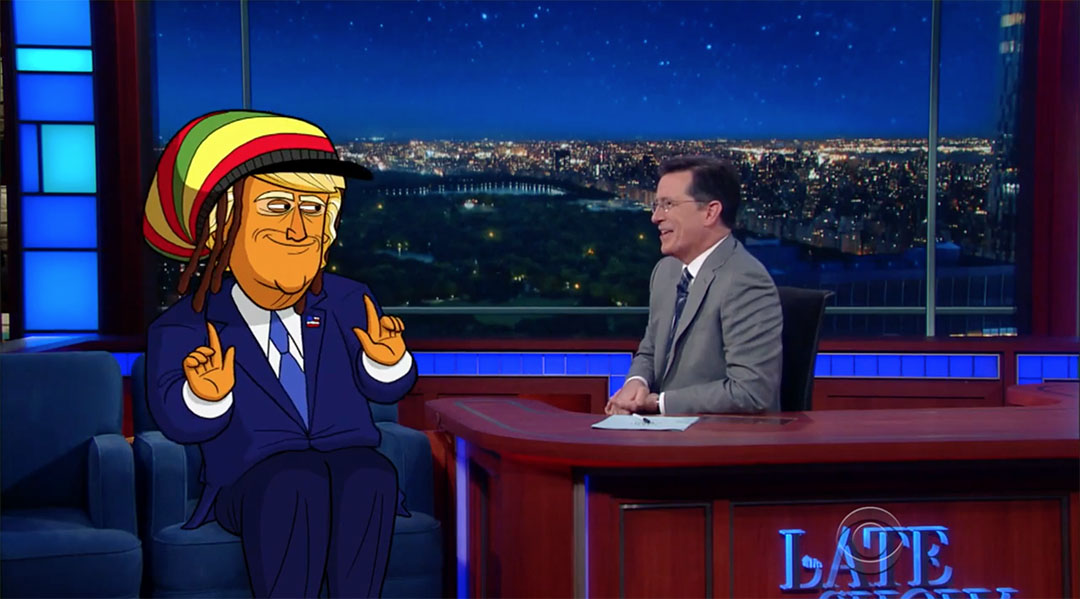 cartoon trump colbert