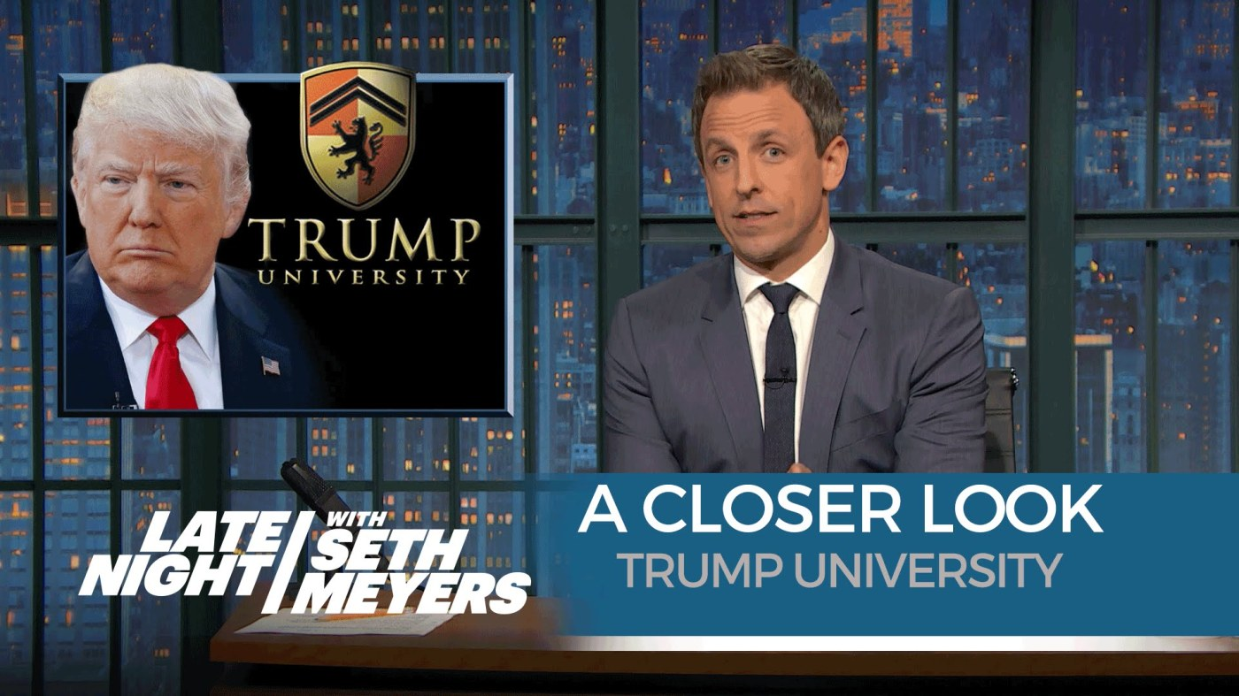 Trump University seth meyers