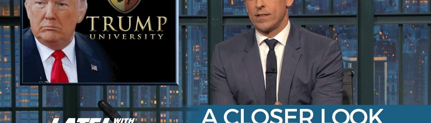 Trump University seth meyers