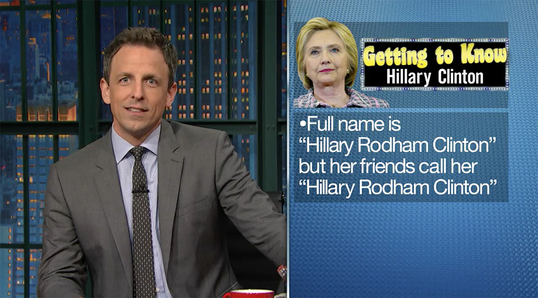 hillary clinton seth meyers getting to know