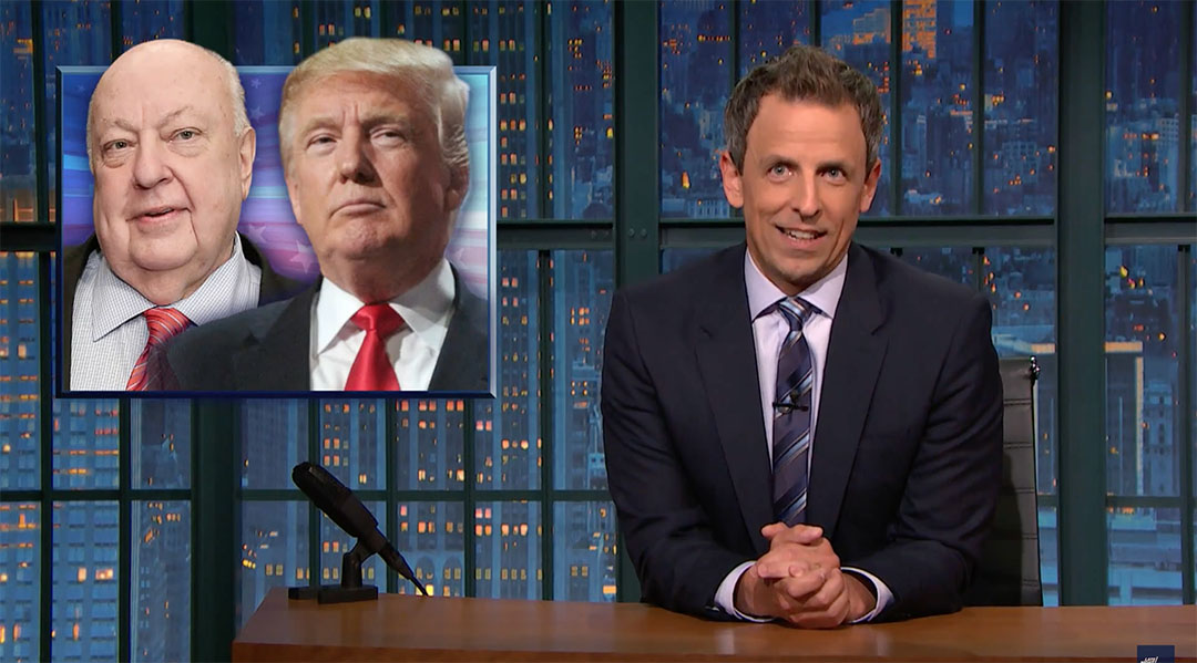 seth meyers right-wing bubble trump