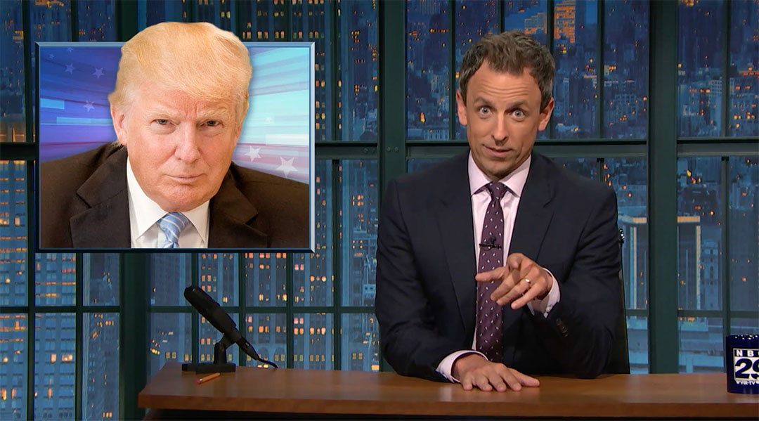 seth meyers late night donald trump foundation charity