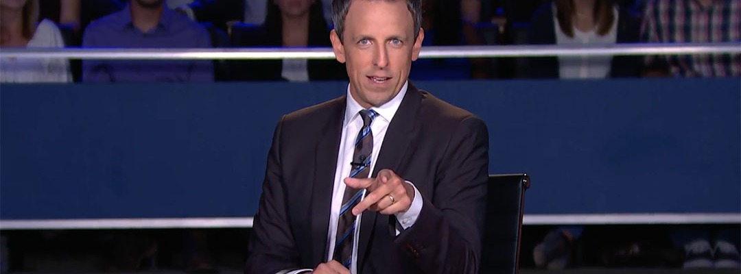 seth meyers late night debate moderator