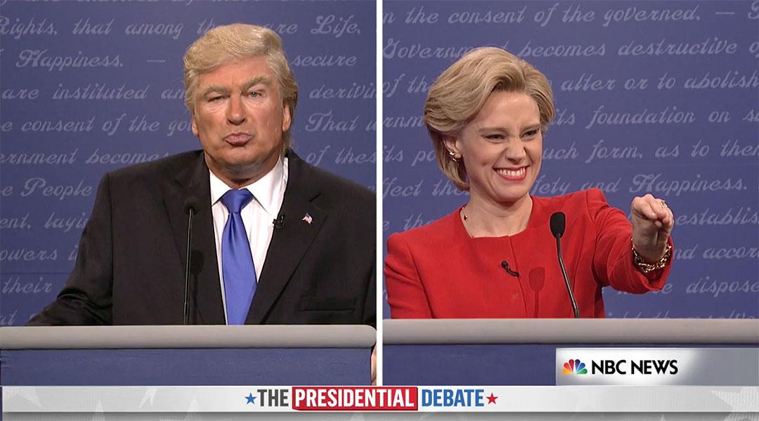 snl debate trump clinton baldwin mckinnon