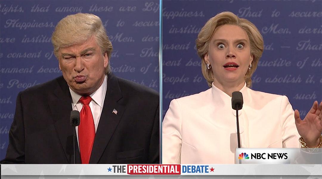 snl debate third baldwin mckinnon trump clinton