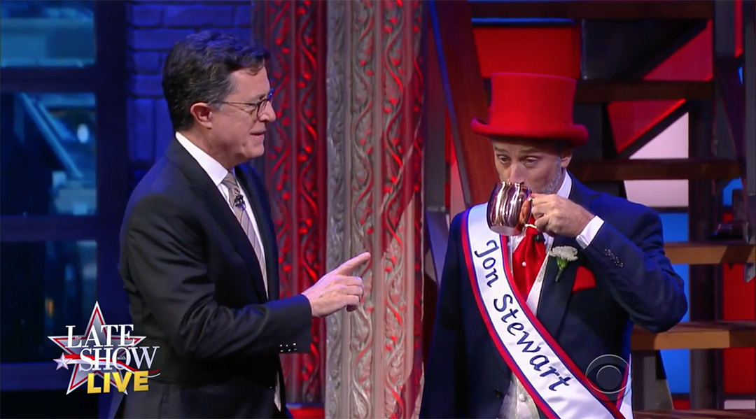 colbert jon stewart election