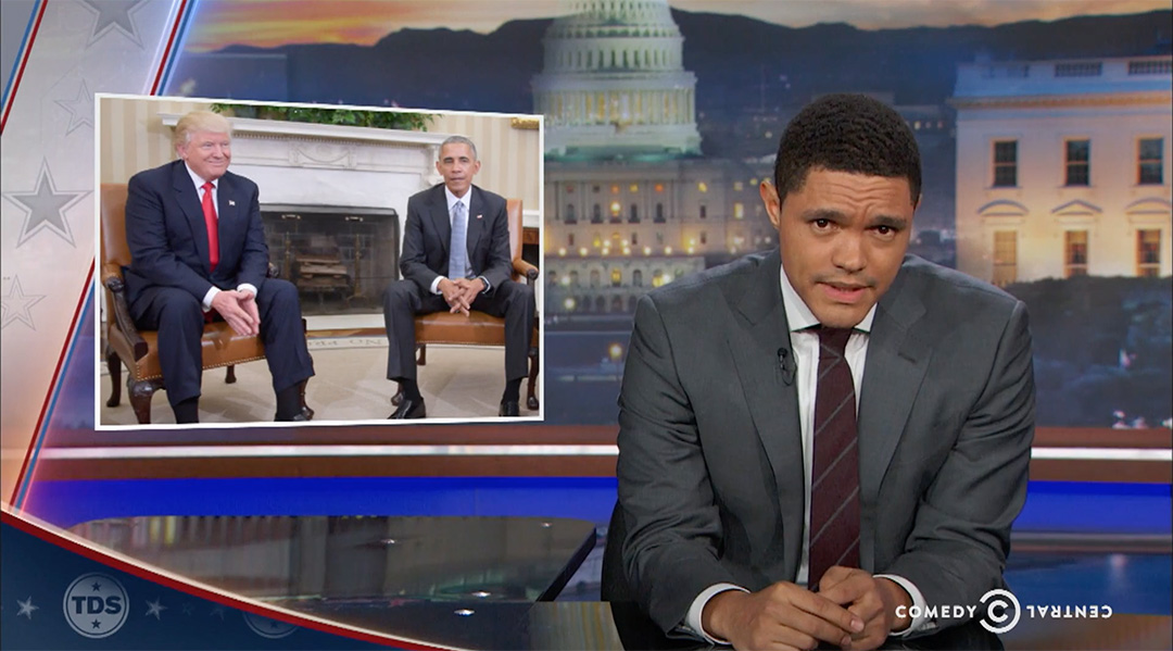 trevor noah trump obama meeting