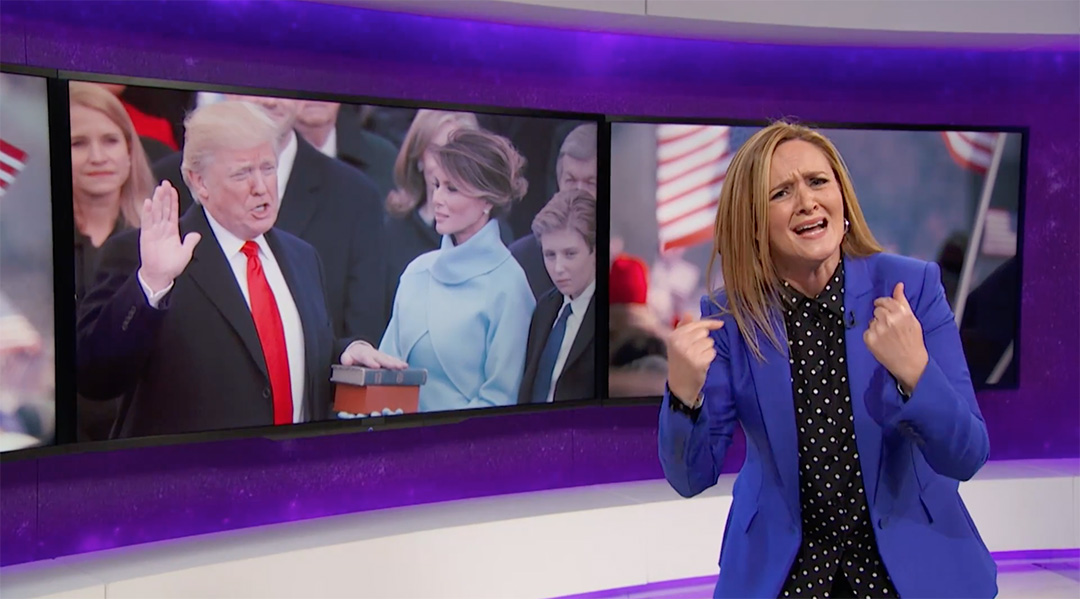 samantha bee full frontal inauguration
