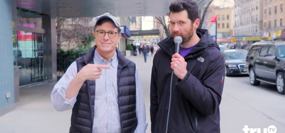 billy eichner Stephen Colbert new York bubble