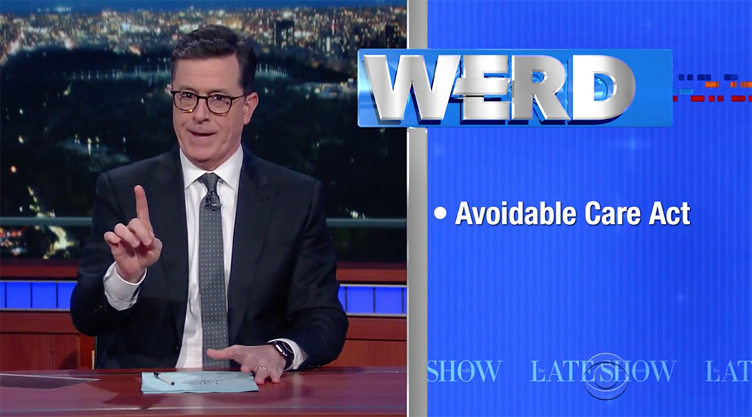 colbert The Werd obamacare