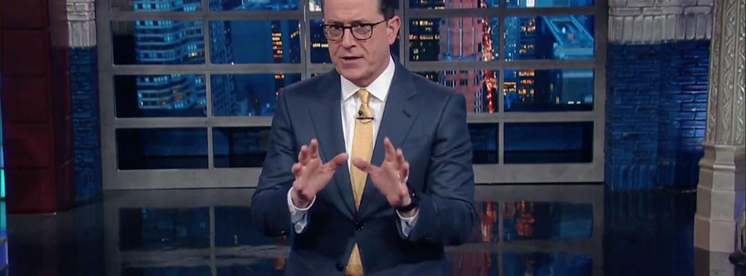 late show stephen colbert trump presidency