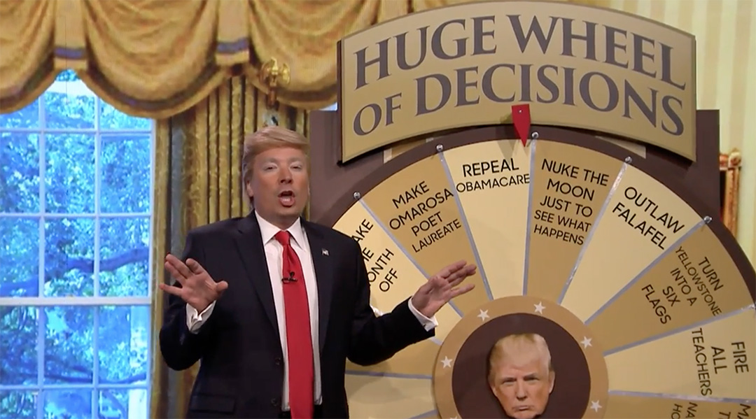 jimmy fallon trump wheel of decisions