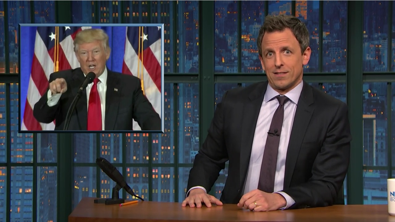 donald trump press conference seth meyers