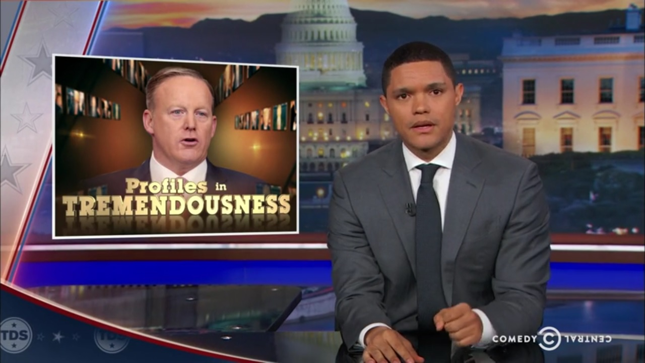 trevor noah sean spicer alternative facts