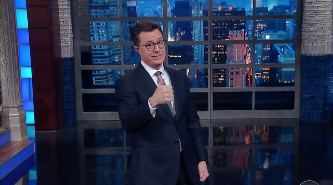 stephen colbert trans people trump