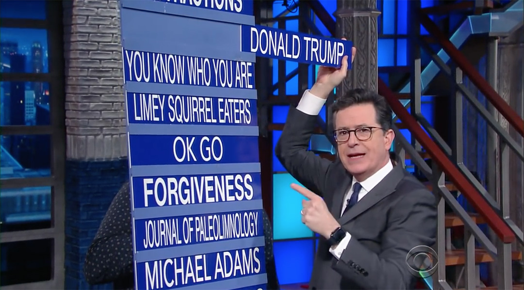 colbert report trump on notice