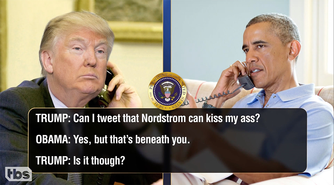 conan trump call obama Nordstrom