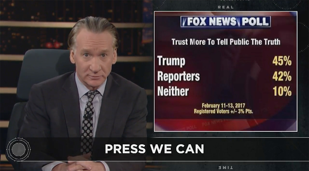 bill maher press media donald trump
