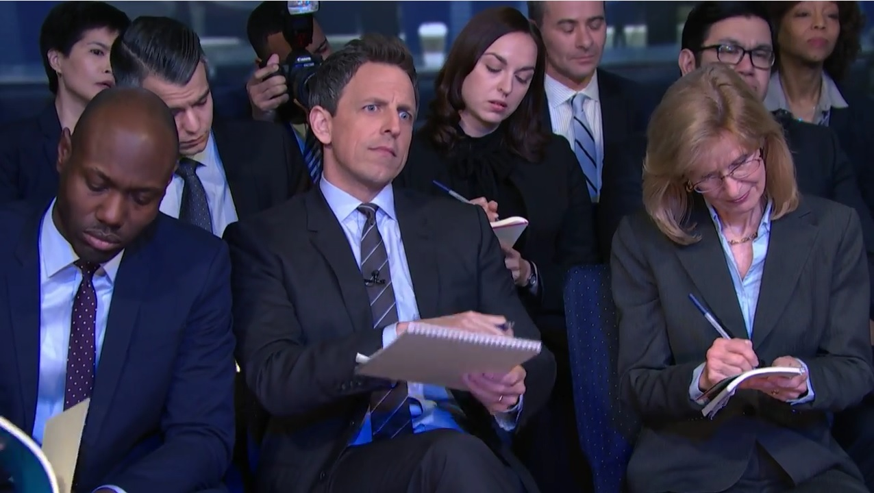 seth meyers sean spicer press briefing