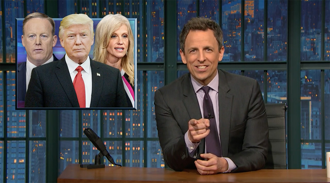 seth meyers donald trump second week