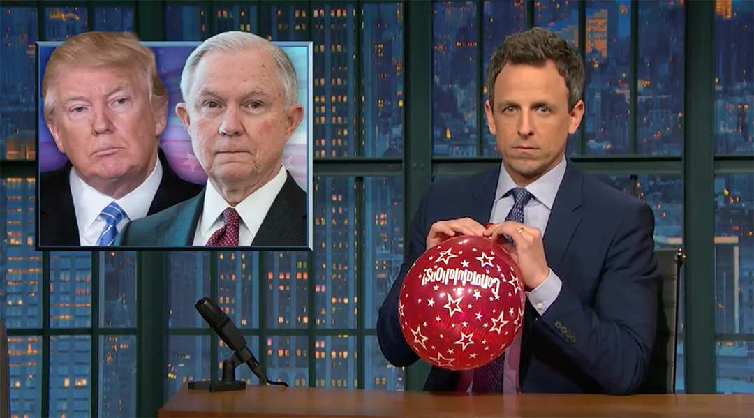 seth meyers jeff sessions russia