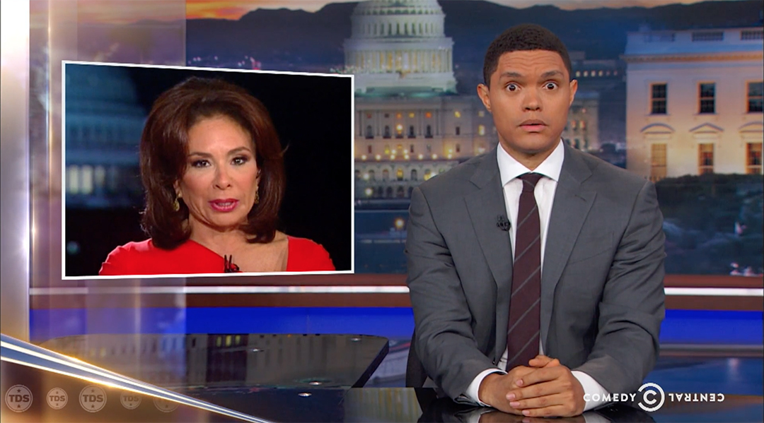 daily show trevor noah paul ryan jeanine pirro fox news