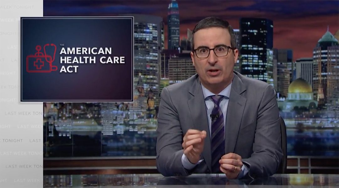 john oliver trumpcare healthcare obamacare