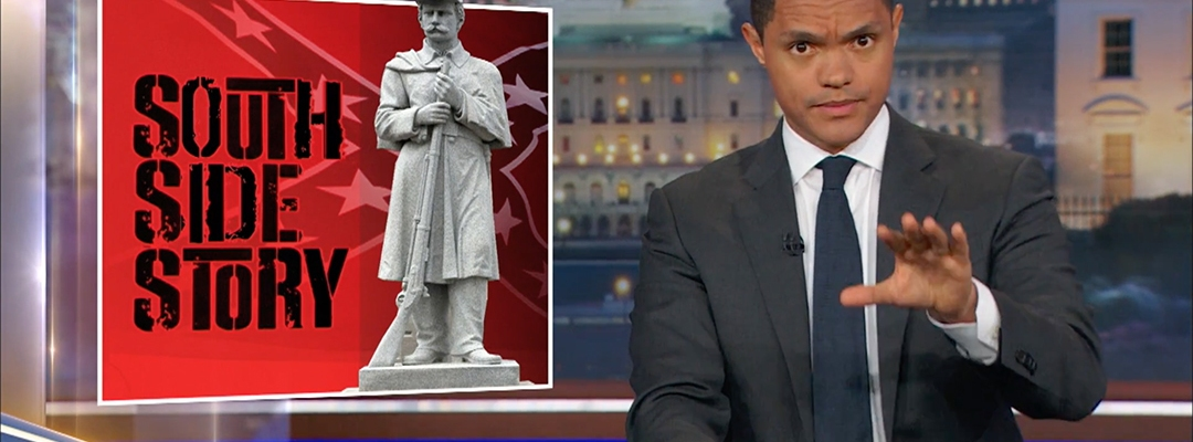 trevor noah daily show confederate memorial day