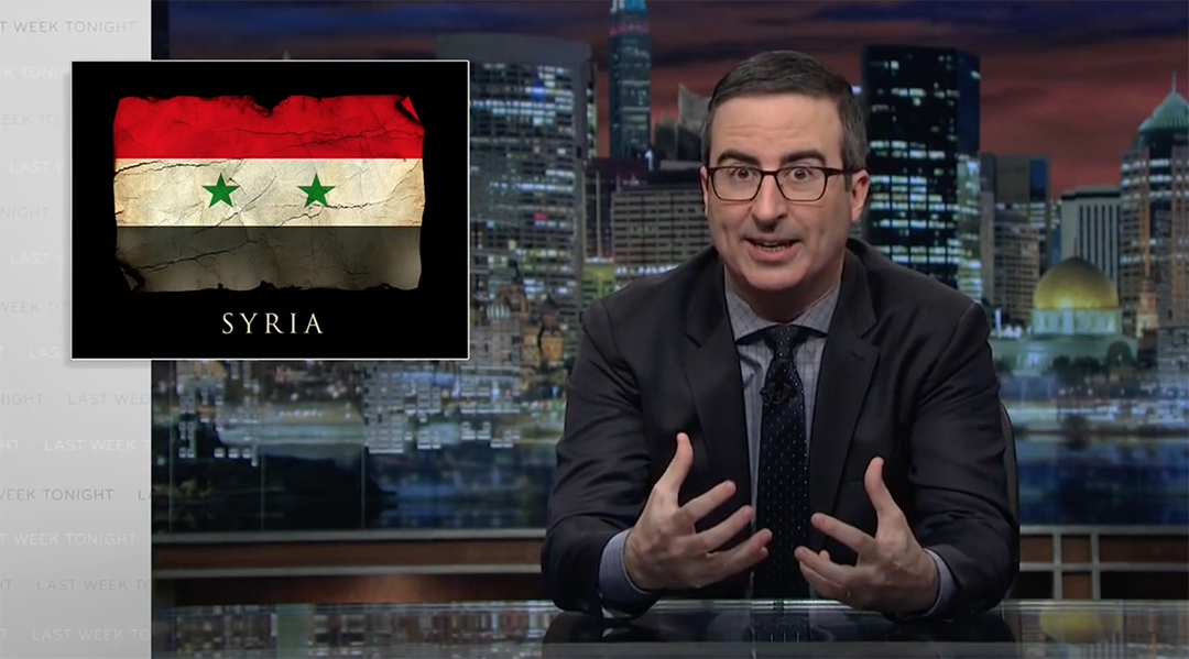 oliver trump syria assad